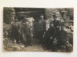 Wk1 Foto Ak Deutsche Soldaten Unterstand Taschenlampe Gasmasken Bus - Guerre 1914-18