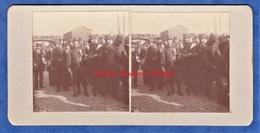 Photo Ancienne Stéréo Vers 1914 1915 - ROUEN - Portrait De Poilu Avec Drapeau Au Fusil - Patriotique Normandie WW1 - Guerre, Militaire