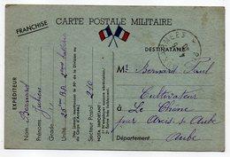 1940--carte De Franchise Militaire 25° RA  --2° Batterie  - Bernard Julien - Marcophilie (Lettres)