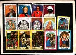 73292)  SANTA LUCIA-LOTTO FRANCOBOLLI -MNH** - St.Lucia (1979-...)