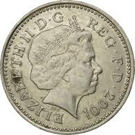 Monnaie, Grande-Bretagne, Elizabeth II, 10 Pence, 2001, TB+, Copper-nickel - 1971-… : Monnaies Décimales
