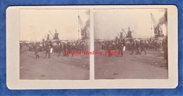 Photo Ancienne Stéréo Vers 1914- ROUEN - Groupe De Militaire Britannique British Army Soldier Officer Normandie WW1 Grue - Guerre, Militaire