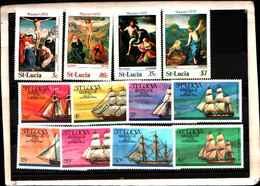 73293)  SANTA LUCIA-LOTTO FRANCOBOLLI -MNH** - St.Lucia (1979-...)