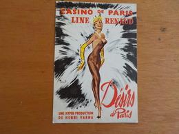 8038) Publicité Casino De Paris Music-hall Line Renaud Désirs De Paris Production De Henry Varna 15x10cm - Publicités
