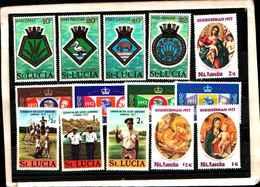 73294)  SANTA LUCIA-LOTTO FRANCOBOLLI -MNH** - St.Lucia (1979-...)