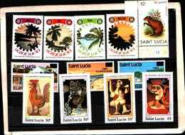 73296)  SANTA LUCIA-LOTTO FRANCOBOLLI -MNH** - St.Lucia (1979-...)