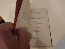 LES ETAPES D'UN TOURISTE EN FRANCE PARIS PROMENADE DANS LES 20 ARRONDISSEMENTS 1900 ALEXIS MARTIN XVIe ARRONDT PASSY - Ile-de-France