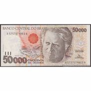 TWN - BRAZIL 234a - 50000 50.000 Cruzeiros 1991 Various Series - Signatures: Moreira & Gros UNC - Brésil