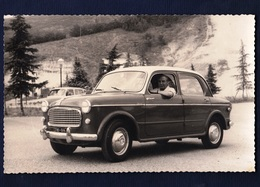 Real Photo Postcard.car Fiat 1100. Small Size, New, Divided Back. Photo Saini, Tabiano Terme. Ed. Gevaert. - Passenger Cars