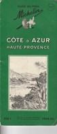 Guide Du Pneu Michelin Côte D'Azur 1954-55 - Michelin (guides)