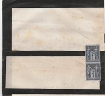 1c Sage YT 83 En Paire Sur Document Fermé Non Ouvert Sans Adresse ?? Deuil ?? - Postmark Collection (Covers)