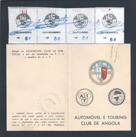 Cartão E Quotas De Sócio Do Automóvel Touring Clube De Angola.Card And Membership Dues Of Automobile And Touring Angola. - Automotive