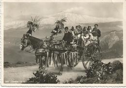 W450 Sicilia - Folklore - Carretto Siciliano / Viaggiata 1950 - Personaggi
