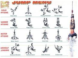 (47) New Zealand - Taupo Bungy Jumping Menu - New Zealand