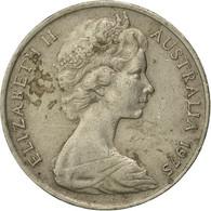 Monnaie, Australie, Elizabeth II, 20 Cents, 1975, Melbourne, TB, Copper-nickel - 1855-1910 Monnaie De Commerce