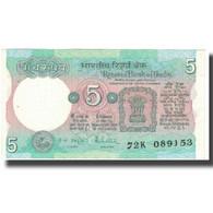 Billet, Inde, 5 Rupees, Undated (1973), KM:80n, SUP - Inde