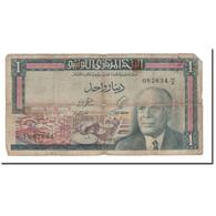 Billet, Tunisie, 1 Dinar, 1965, 1965-06-01, KM:63a, B - Tunisie
