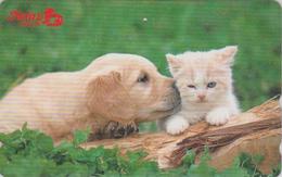 Télécarte Japon / 110-016 - ANIMAL - CHAT & CHIEN LABRADOR ** HEINZ ** - CAT & DOG Japan Phonecard - KATZE & HUND - 4800 - Gatos