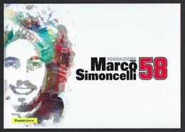 "2018 ITALIA ""MARCO SIMONCELLI 58"" FOLDER (ANN. MISANO ADRIATICO) - 6. 1946-.. Republik"