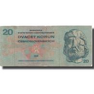 Billet, Tchécoslovaquie, 20 Korun, 1970, 1970, KM:92, TB - Tchécoslovaquie