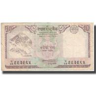 Billet, Népal, 10 Rupees, 2008, 2008, KM:61, TB - Népal