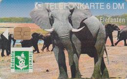 Télécarte à Puce ALLEMAGNE - Du Puzzle Emission Conjointe Danemark - ANIMAL - ELEPHANT * 2000 EX * MINT Chip Phonecard - Allemagne