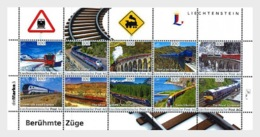 H01 Liechtenstein 2017 Famous Trains Zug Eisenbahn MNH Postfrisch - Gebraucht