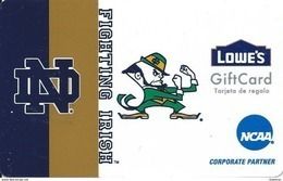 Lowes NCAA Gift Card - Notre Dame Fighting Irish - Gift Cards