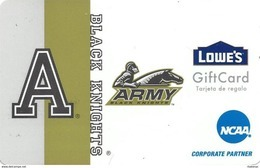 Lowes NCAA Gift Card - Army Black Knights - Gift Cards