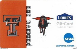 Lowes NCAA Gift Card - Texas Tech Red Raiders - Gift Cards