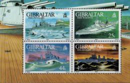 Gibraltar Bloc N** Yv:18 Mi:19 Navires De Guerre II - Gibraltar