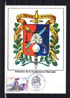 """"""" MARECHAL MONCEY / GENDARMERIE """" Sur Carte Maximum Signée Par J. JUBERT De 1991. N° YT 2702. Parfait état CM - Police - Gendarmerie"""