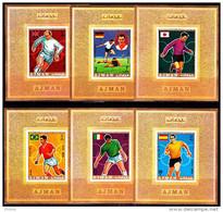 AJMAN. FOOTBALL. WORLD CUP 1970. 6 DLUXE** - Copa Mundial