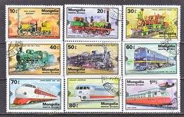 MONGOLIA  1078-86   (o)  TRAINS - Trains
