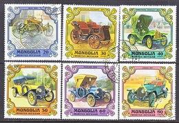 MONGOLIA  1129-34   (o)  ANTIQUE  CARS - Cars