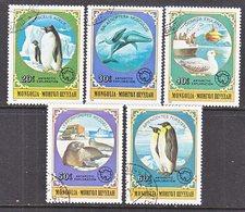 MONGOLIA  1137-41   (o)  WILDLIFE  PENGUINS - Antarctic Wildlife