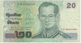 Billet, Thaïlande, 20 Baht, KM:109, TB+ - Thaïlande