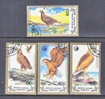 MONGOLIA  1700-03   (o)  BIRDS  OF  PREY - Eagles & Birds Of Prey