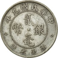 Monnaie, Chine, KWANGTUNG PROVINCE, 20 Cents, 1920, TTB, Argent, KM:423 - China