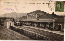 07 ... ANNONAY ... LA GARE ... ARRIVEE DU TRAIN - Annonay