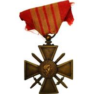 France, Croix De Guerre, Médaille, 1939, Excellent Quality, Bronze, 37 - Militari