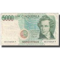 Billet, Italie, 5000 Lire, Undated (1985), KM:111b, TB - 5000 Lire