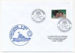 """FRANCE - Enveloppe """"VERTONNE P605 - Les Sables D'Olonne"""" + """"Bureau Pionnier"""" 2006 - Marcophilie (Lettres)"""