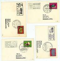 4 Minibriefe 10,5 X 7 Cm Sonderstempel - Briefe U. Dokumente