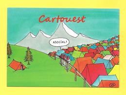 Illustrateur Dessin - L'Asocial De Guy Delaunay - Tentes Camping - Signée ( Humour ) - Bandes Dessinées