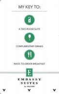 Embassy Suites By Hilton - Hotel Room Key Card - Hotel Keycards