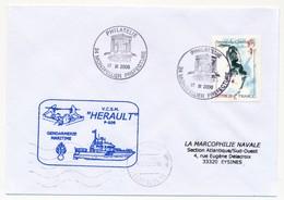 "FRANCE - Enveloppe ""VCSM Herault P 609 Gendarmerie Maritime"" - Philatélie Montpellier Préfecture 2006 - Naval Post"
