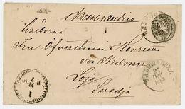 7 Kopeken GSU 1880 Nach Schweden - Brieven En Documenten
