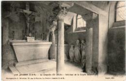 3TF 819 CPA - JOUARRE - LA CHAPELLE - INTERIEUR DE LA CRYPTE - Other Municipalities