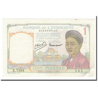 Billet, FRENCH INDO-CHINA, 1 Piastre, 1932-1939, 1946, KM:54c, SPL - Indochine